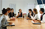 image of team at board table